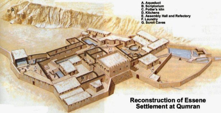 Ricostruzione del sito esseno