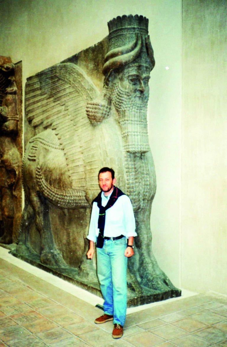 genio alato di Dur Sharrukin a Lamastu Assiria